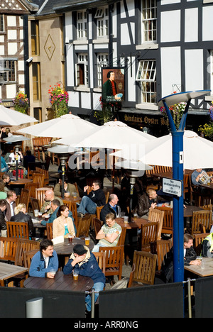 Sinclairs Oyster Bar Old Wellington Inn Exchange Square Manchester UK Europe - Stock Photo