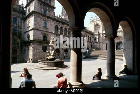 The Plaza de las Platerias Santiago De Compostela La Coruna province Galicia Spain