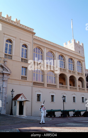 View of Monaco the Prince s Palace - Stock Photo