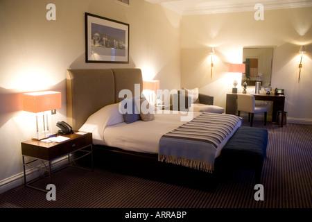 Guest Room The Balmoral Hotel Edinburgh Scotland - Stock Photo