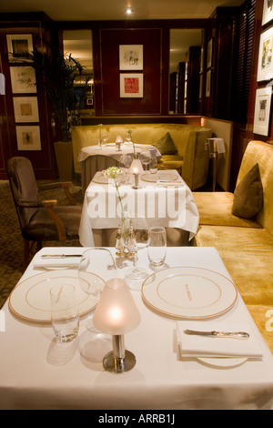 Number One Restaurant at The Balmoral Hotel Edinburgh Scotland - Stock Photo