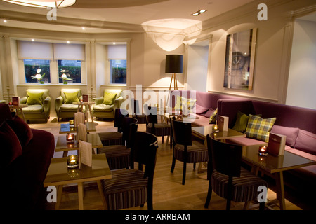 Bar Interior The Balmoral Hotel Edinburgh Scotland - Stock Photo