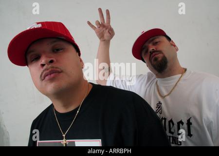 Hip Hop duo 'Deuce Mob'. - Stock Photo