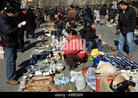 Panjiayuan market in Beijing China 16-Feb-2008 - Stock Photo