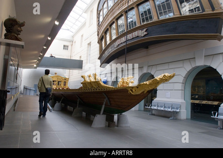 Old Royal Barge in the Maritime Museum Greenwich London GB UK - Stock Photo