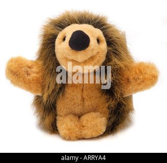 Soft toy hedgehog animal figure cartoon England UK United Kingdom GB Great Britain EU European Union Europe - Stock Photo