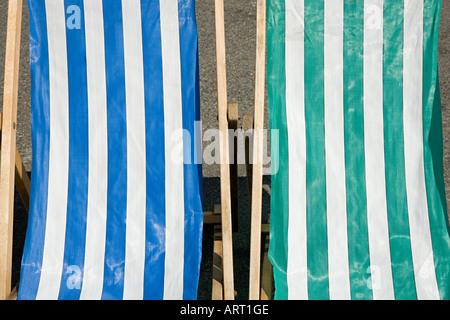 Two deckchairs - Stock Photo