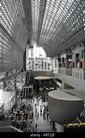 Kyoto JR Train Station, Japan - Stock Photo
