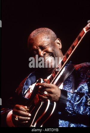 BB KING US Blues musician in November 1997 - Stock Photo