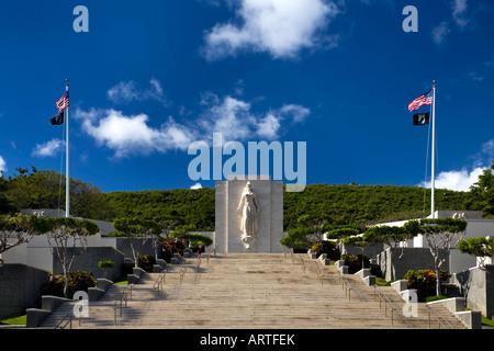National Memorial Cemetery of the Pacific Honolulu Hawaii - Stock Photo