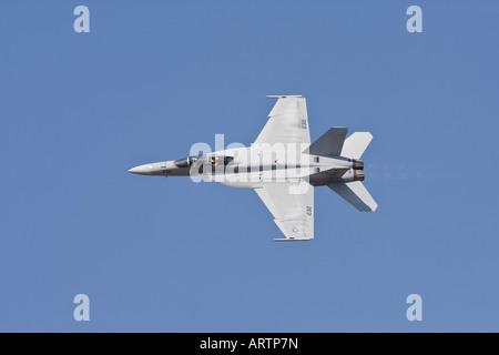 FA 18 F Super Hornet High Speed Pass - Stock Photo