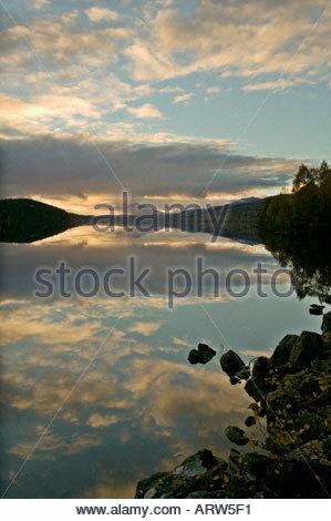 Loch Garry Highland Scotland - Stock Photo