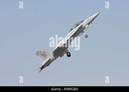 FA 18 F Super Hornet climbing after take off - Stock Photo
