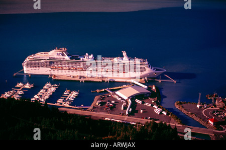 The Coral Princess cruise ship at the Port of Whittier in Alaska - Stock Photo