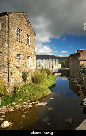 Gayle Beck Hawes Market Town Wensleydale Yorkshire England - Stock Photo