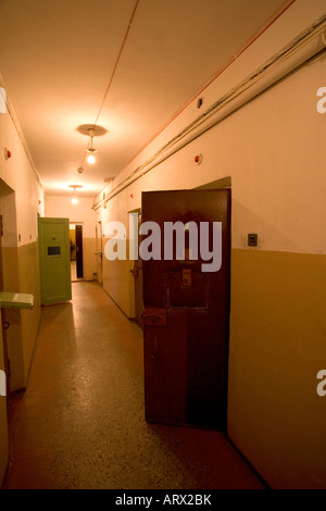 Prison cells at the Museum of Genocide Victims in Vilnius Lithuania. Used by the Gestapo and KGB as a prison - Stock Photo