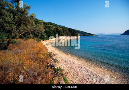 greece ionian meganisi one of the many tranquil bays - Stock Photo