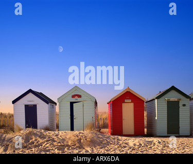 GB - SUFFOLK: Beach huts at Southwold - Stock Photo