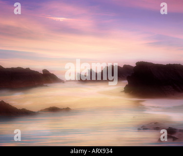 IE - CO. KERRY: Sunset at Ballyferriter Bay on the Dingle Peninsula - Stock Photo