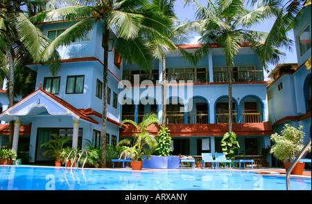 interior of holiday resort in kovalam kerala india - Stock Photo