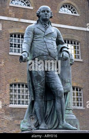 Statue of Robert Milligan West India Docks London England - Stock Photo