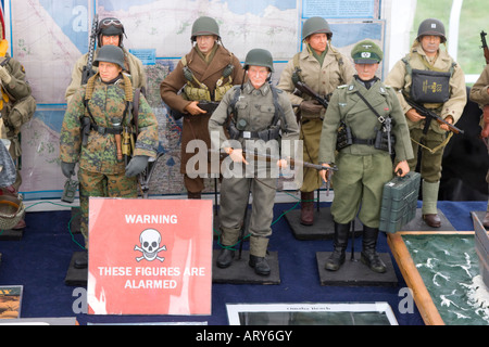 Action men figures dressed in World War II army soldier's uniforms - Stock Photo
