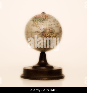Antique globe on stand - Stock Photo