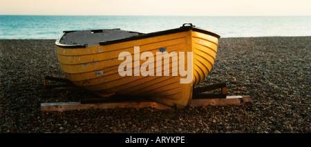 Fishing boat on shore - Stock Photo