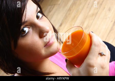 Hot Teen Adina Drinking Cum! -