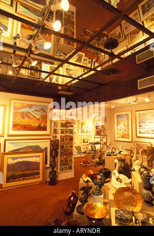 One of the many art venues that one will find during a casual, must walk, along Lahaina's historic Front Street. - Stock Photo