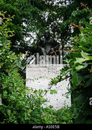 Sigmund Freud Statue - Stock Photo