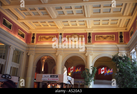 Waterfront Railway Station interior downtown Vancouver Canada - Stock Photo
