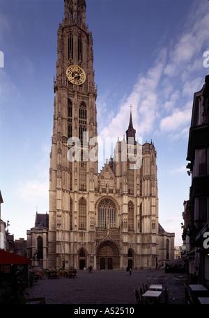 Antwerpen, Kathedrale, Westfassade - Stock Photo