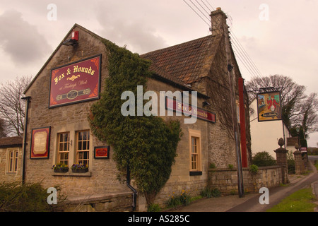 Fox and Hounds pub has been licensed since 1741 at Fairleigh Wick Wiltshire England UK - Stock Photo