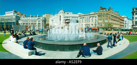 Piccadilly Gardens Manchester City centre UK Europe - Stock Photo