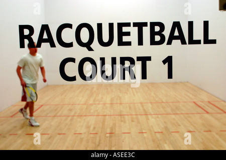 Raquetball Court - Stock Photo
