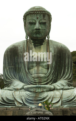 A classic image of the great Buddha statue at Kotokuin Temple in Kamakura, Japan - Stock Photo