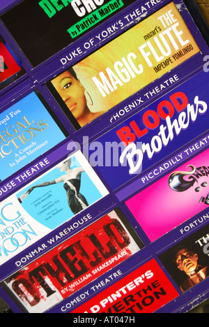 Theatre advertising board, The Strand, West End, London, England, United Kingdom - Stock Photo