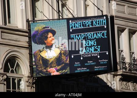 Frontage of Vaudeville Theatre, The Strand, London, England, United Kingdom - Stock Photo