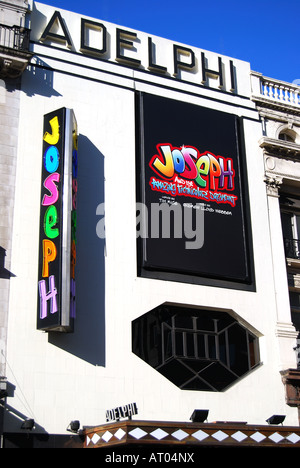 Frontage of Adelphi Theatre, The Strand, London, England, United Kingdom - Stock Photo