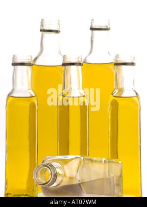 Olive oil bottles - Stock Photo