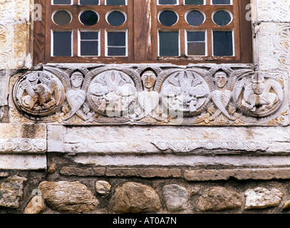 Saint-André-de-Sorede, Fensterdetail - Stock Photo