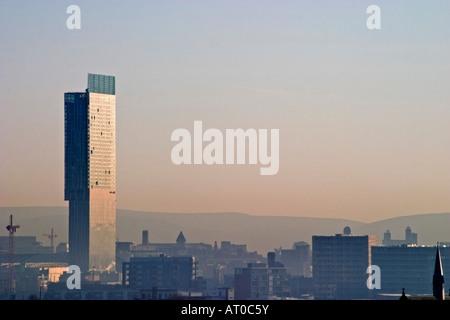Beetham Tower AKA The Hilton Tower Dwarfs The Manchester Skyline - Stock Photo