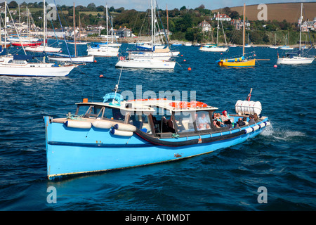 The Kingsley II, a ferry boat on the Fal river between Falmouth and St. Mawes. - Stock Photo