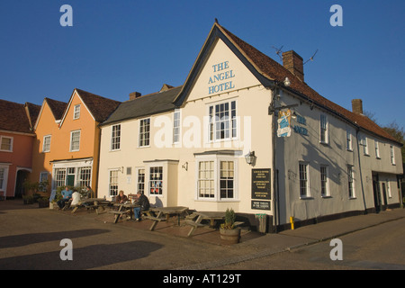 'The Angel Hotel' in the Market Place of Lavenham, Suffolk, UK, 2008 - Stock Photo