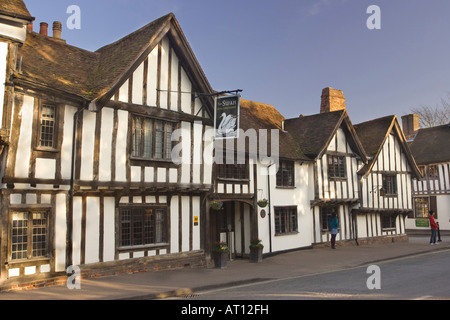 The Swan Hotel in Lavenham, Suffolk, UK, 2008 - Stock Photo