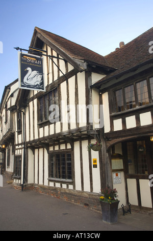 The famous Swan Hotel and Restaurant in Lavenham, Suffolk, UK, 2008 - Stock Photo