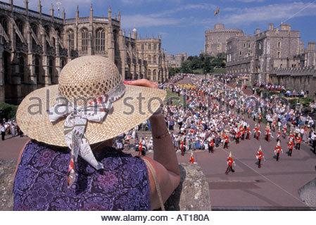 Order of the Garter Ceremony at Windsor Castle, UK - Stock Photo