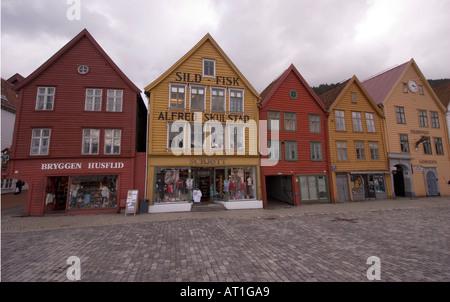 The Bryggen, Bergen - Stock Photo
