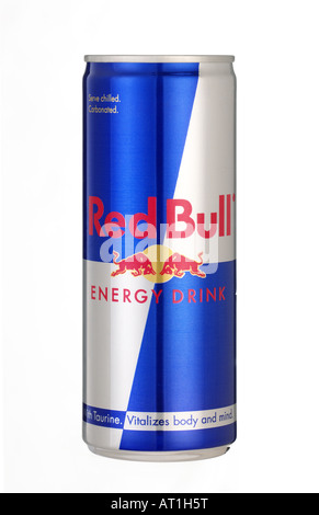 red bull can - Stock Photo